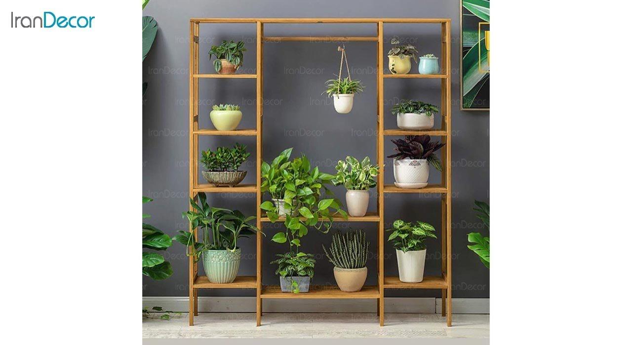 تصویر استند گل و گیاه چوبی مدل W41