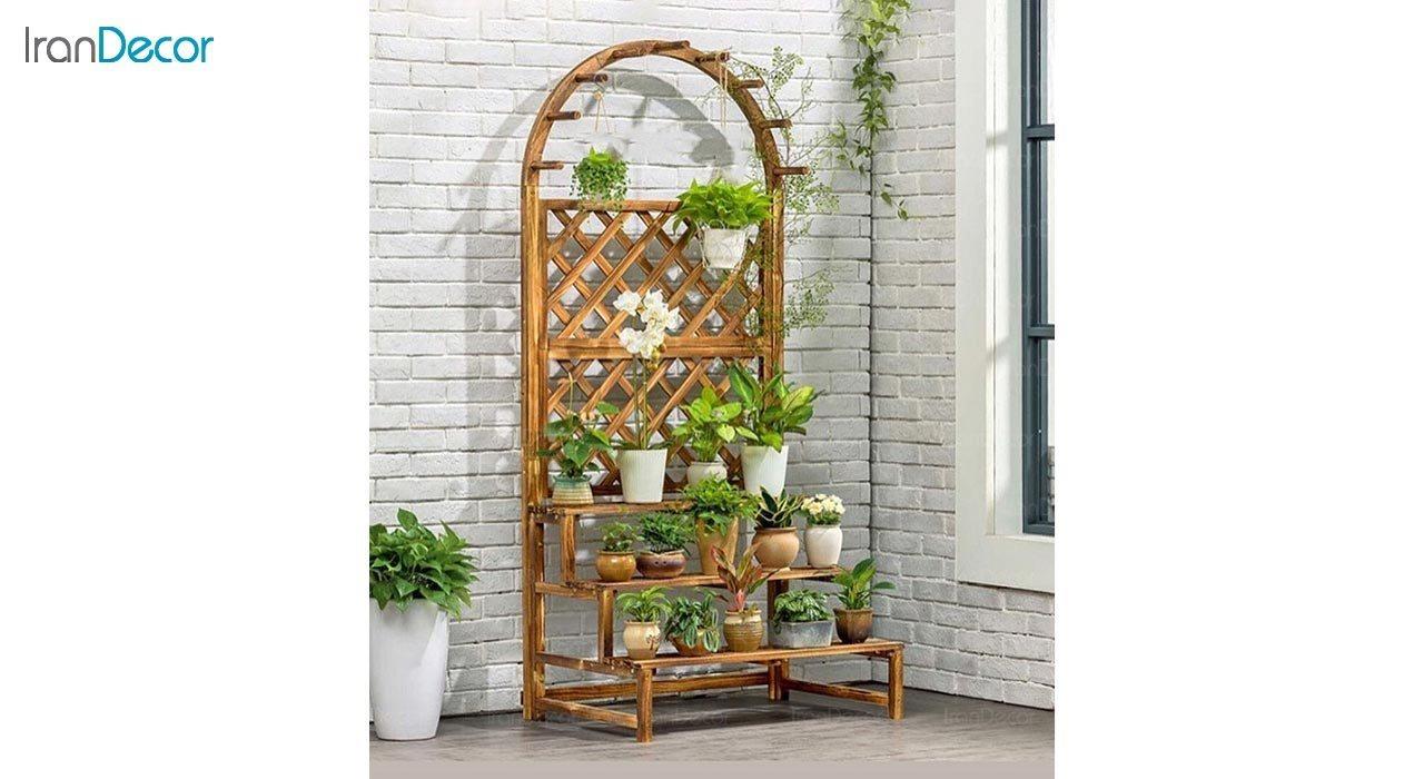 عکس استند گل و گیاه چوبی مدل W34