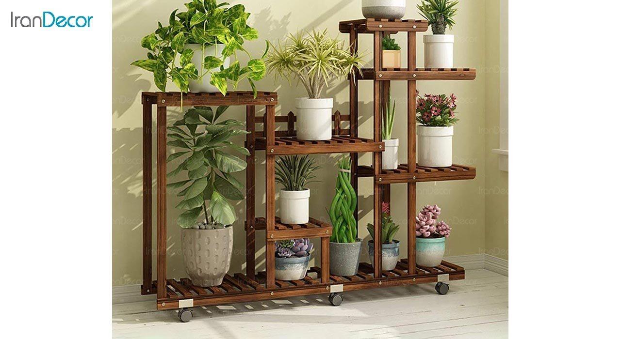 عکس استند گل و گیاه چوبی مدل W42