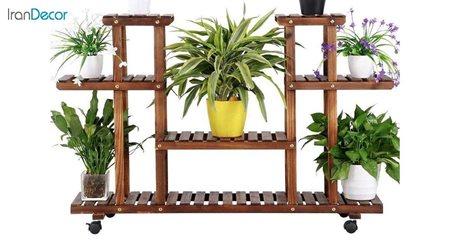 تصویر استند گل و گیاه چوبی مدل W15