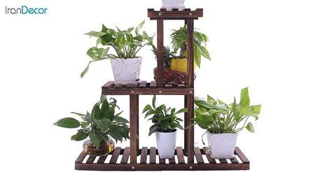 تصویر استند گل و گیاه چوبی مدل W10