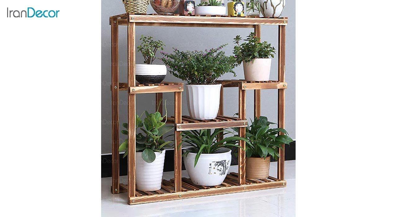 عکس استند گل و گیاه چوبی مدل W3