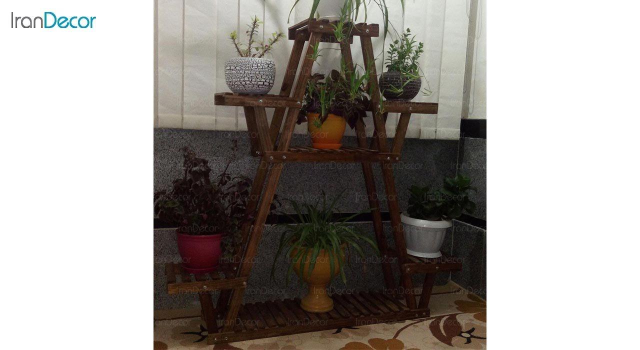 عکس استند گل و گیاه چوبی مدل W30
