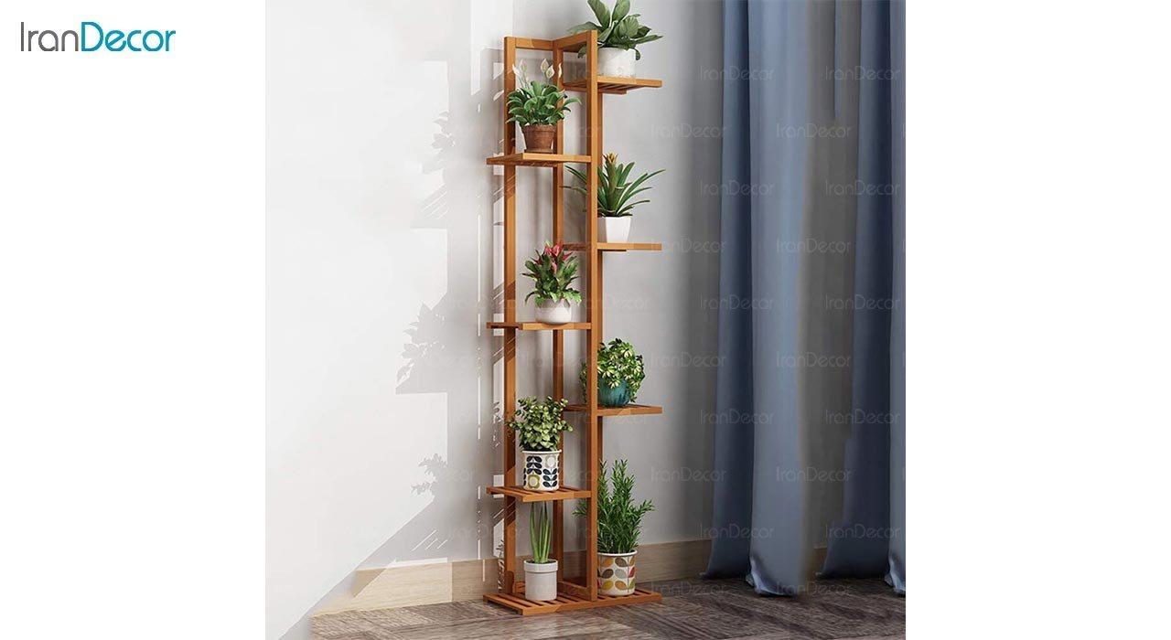 عکس ست استند گل و گیاه چوبی مدل W31