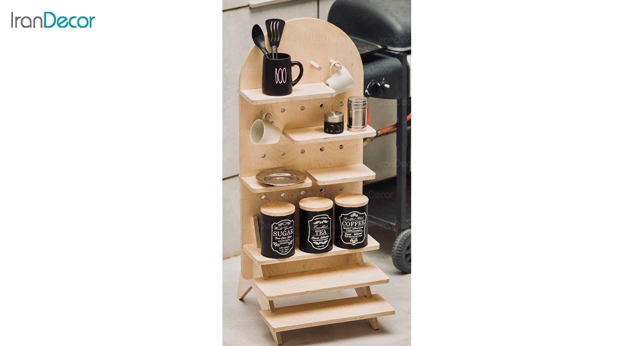 عکس استند چوبی مدل پازلی