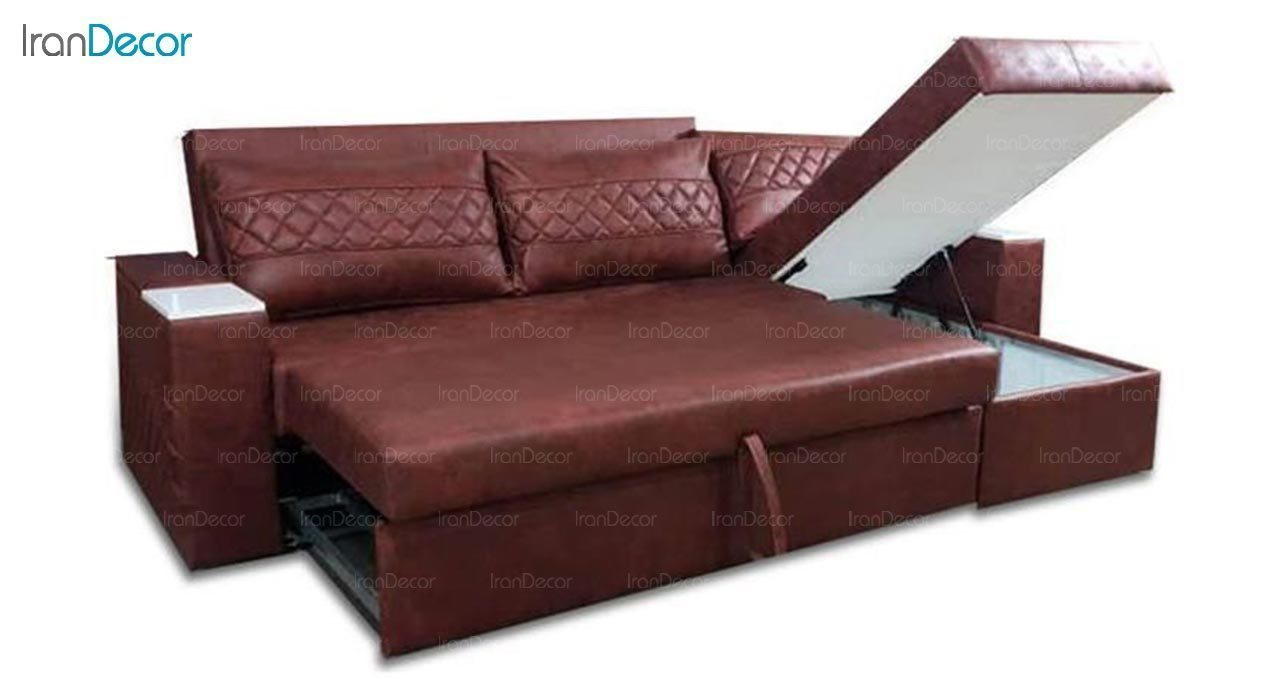 تصویر مبل تختخواب شو دو نفره رویال مدل ال