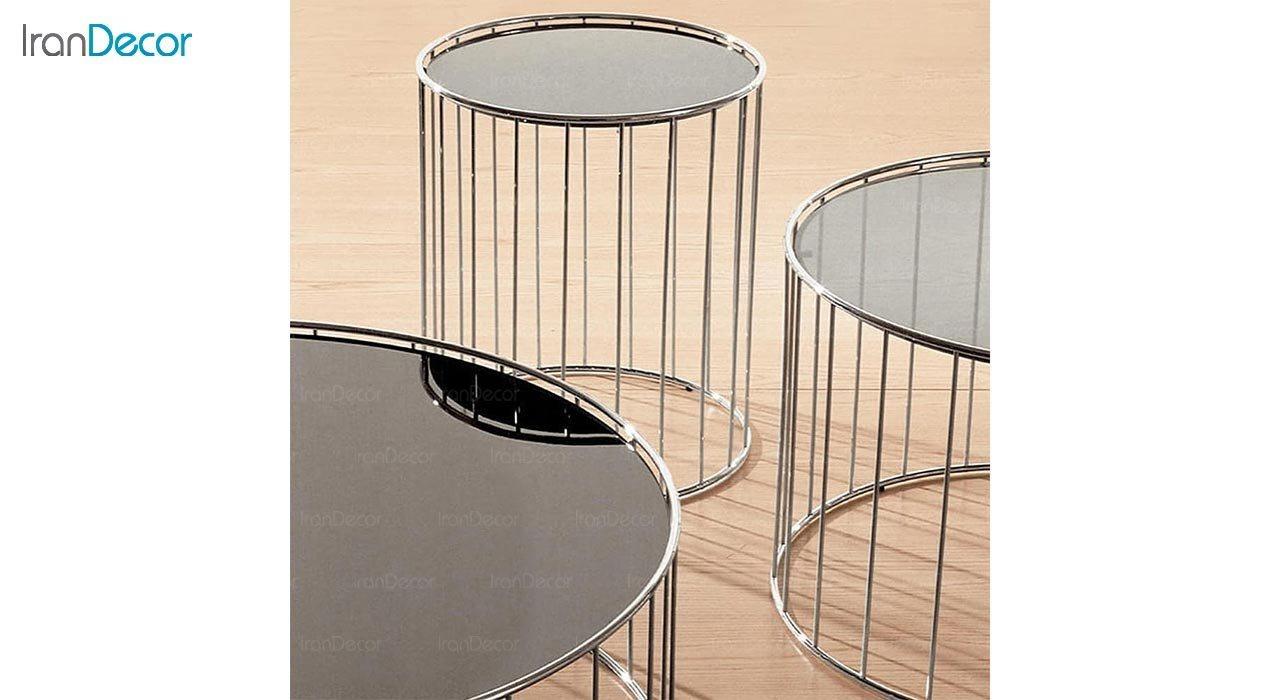 تصویر میز عسلی استیل مدل هیپنوتیک