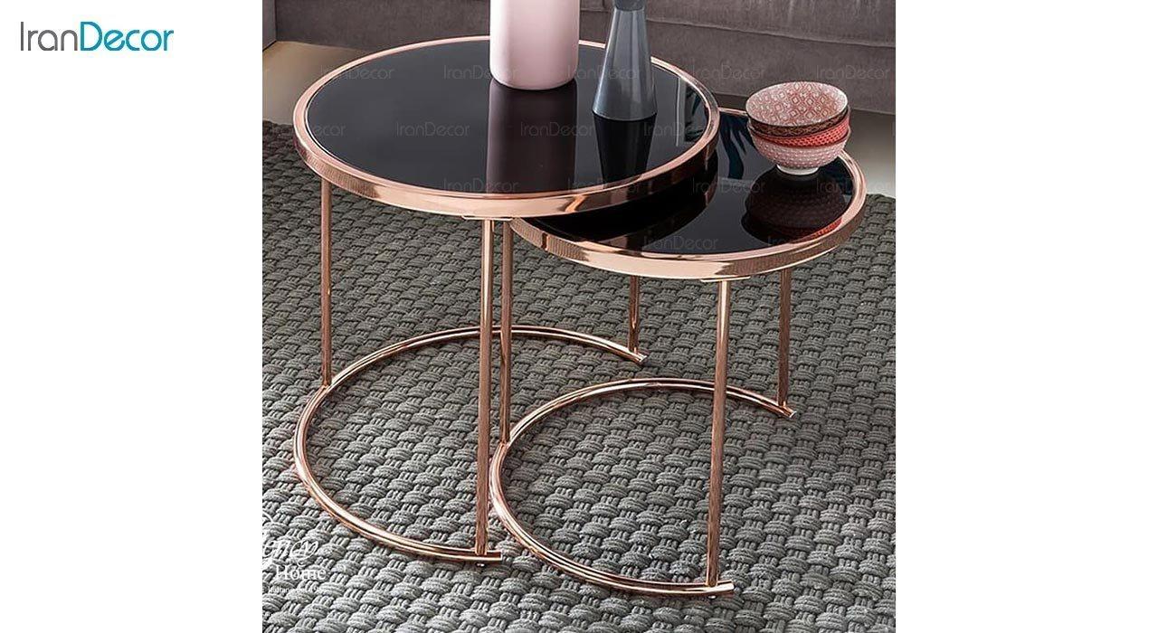 تصویر میز عسلی استیل مدل تینو
