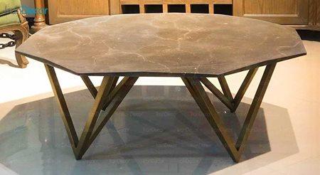 میز جلو مبلی سنگی مدل هگزا