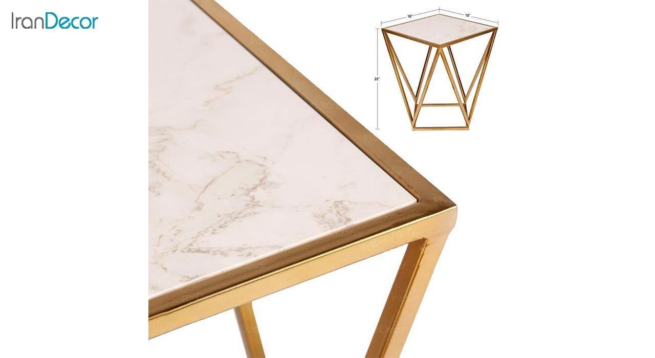 تصویر میز عسلی استیل مدل پنل