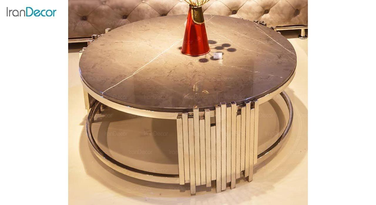 عکس میز جلومبلی مدرن فلزی مدل Nelo