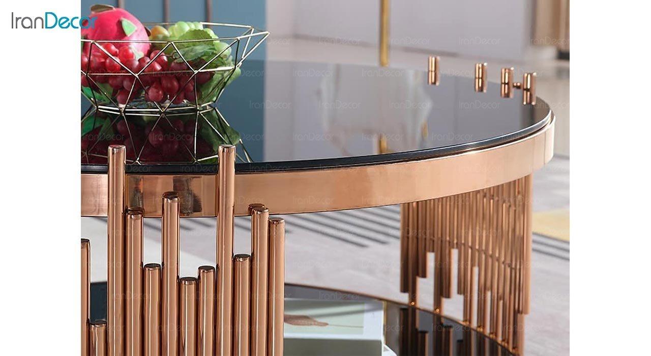 تصویر میز جلومبلی مدرن فلزی مدل Nelo