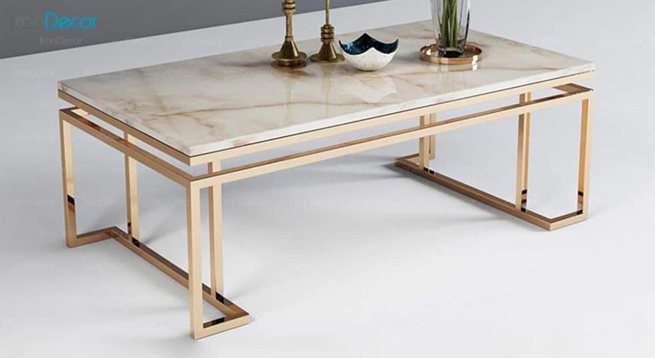 تصویر میز جلومبلی مدرن فلزی مدل سالن