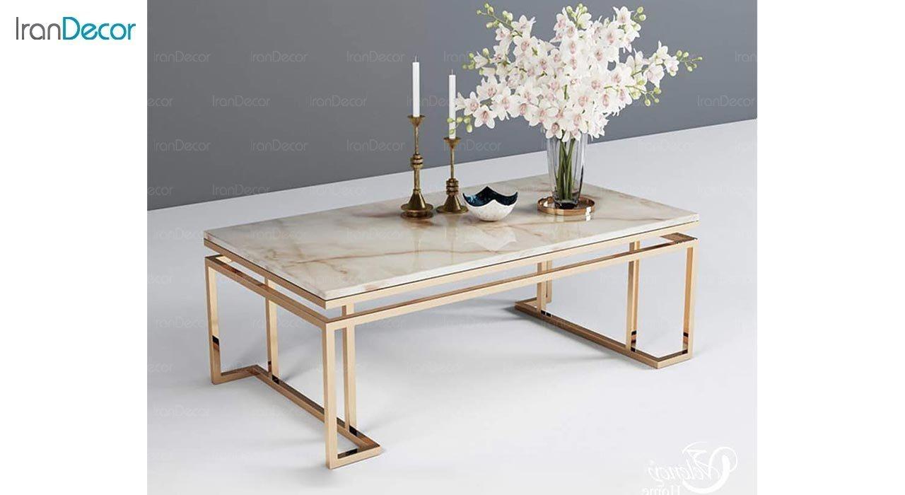 عکس میز جلومبلی مدرن فلزی مدل سالن