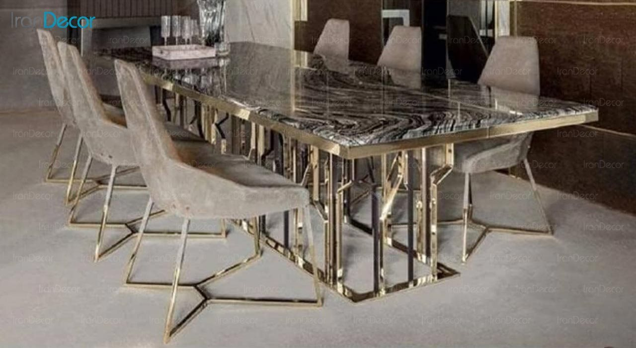 تصویر ست میز ناهار خوری مدرن فلزی مدل اسپایدر کد TD214