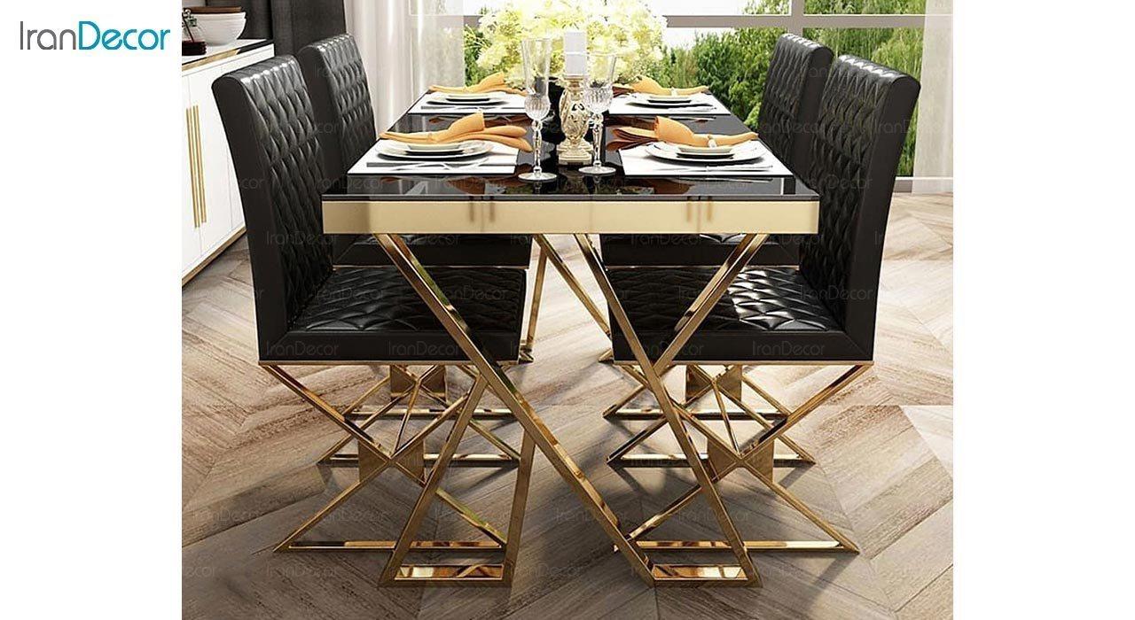 عکس ست میز ناهار خوری استیل مدل هاموک