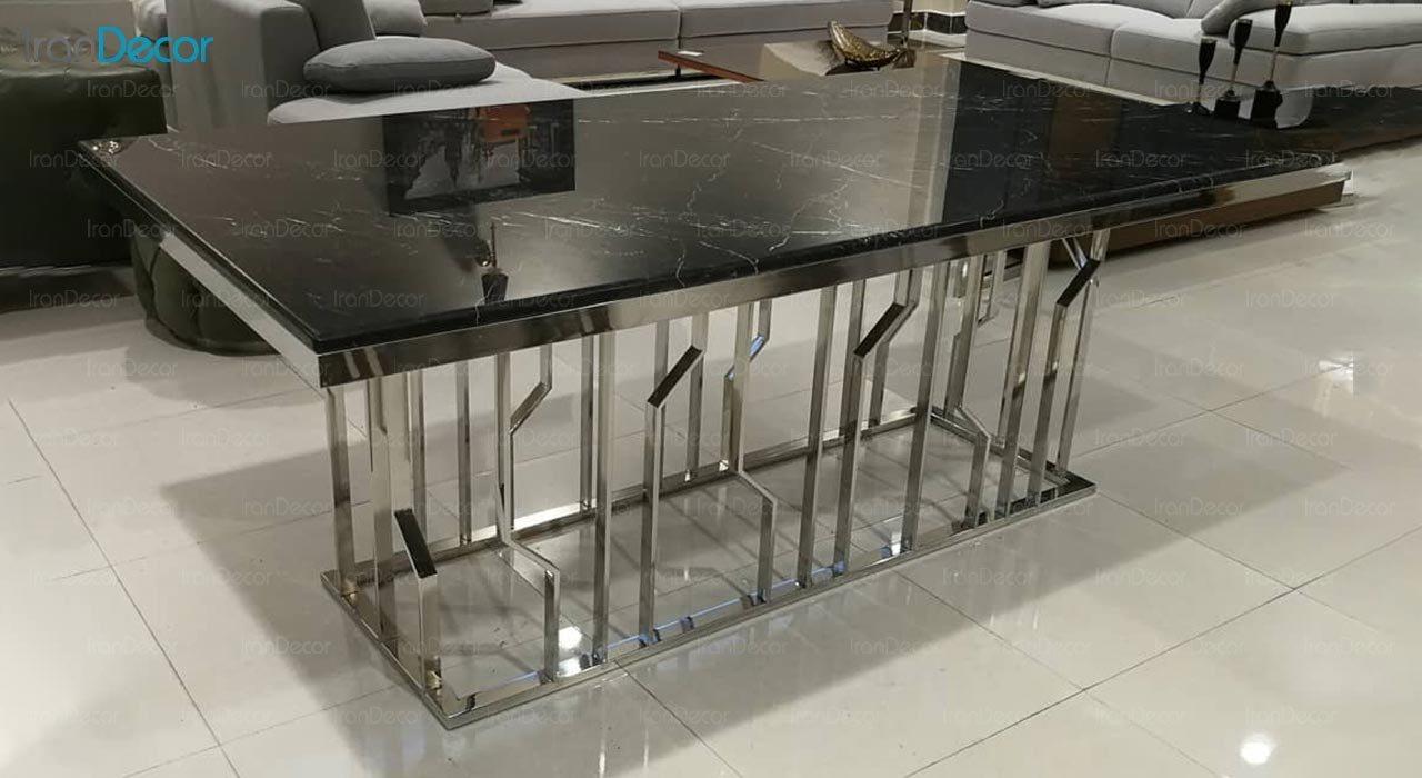 تصویر ست میز ناهار خوری استیل ولنسی مدل اسپایدر کد TD214