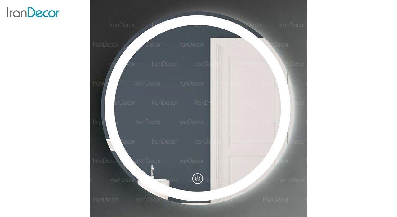 تصویر آینه گرد هوشمند بک لایت مدل F-303
