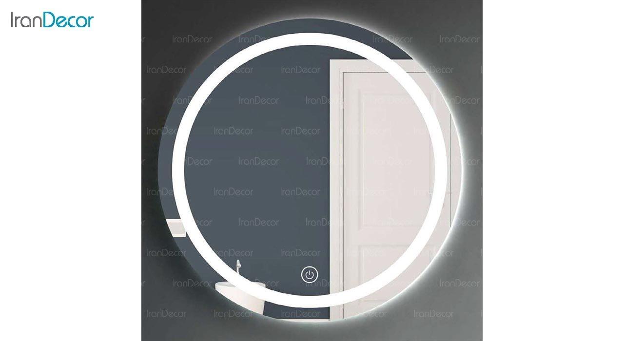 تصویر آینه گرد هوشمند بک لایت مدل F-304