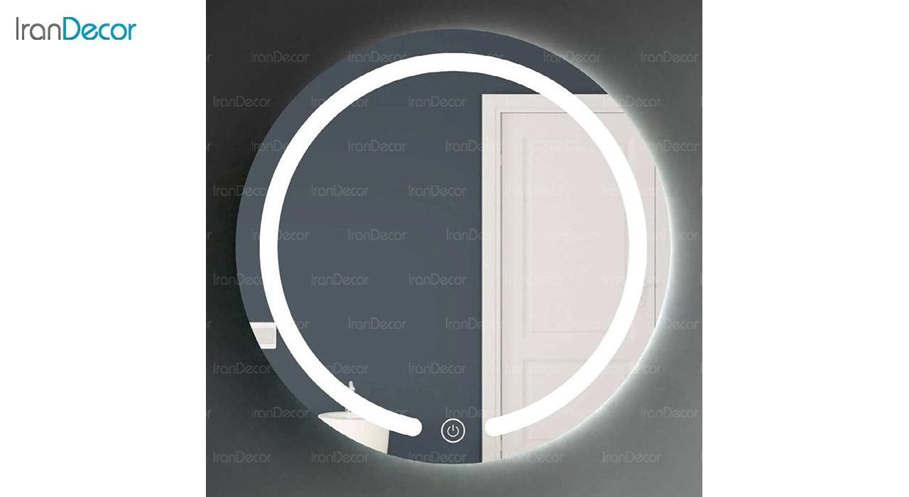 تصویر آینه گرد هوشمند بک لایت مدل F-305