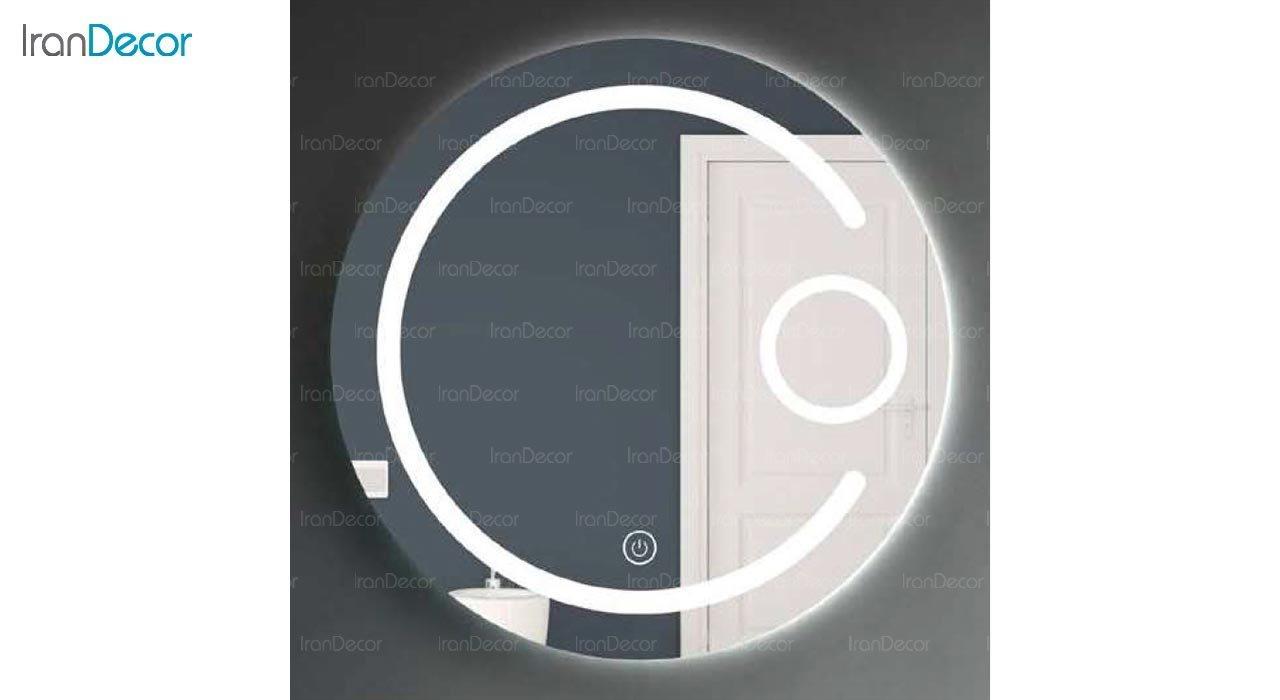 تصویر آینه گرد هوشمند بک لایت مدل F-306