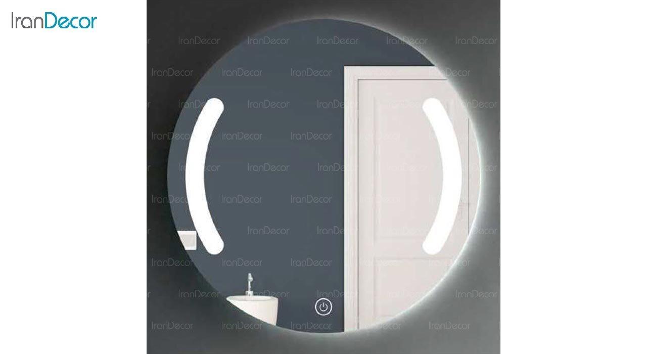تصویر آینه گرد هوشمند بک لایت مدل F-307