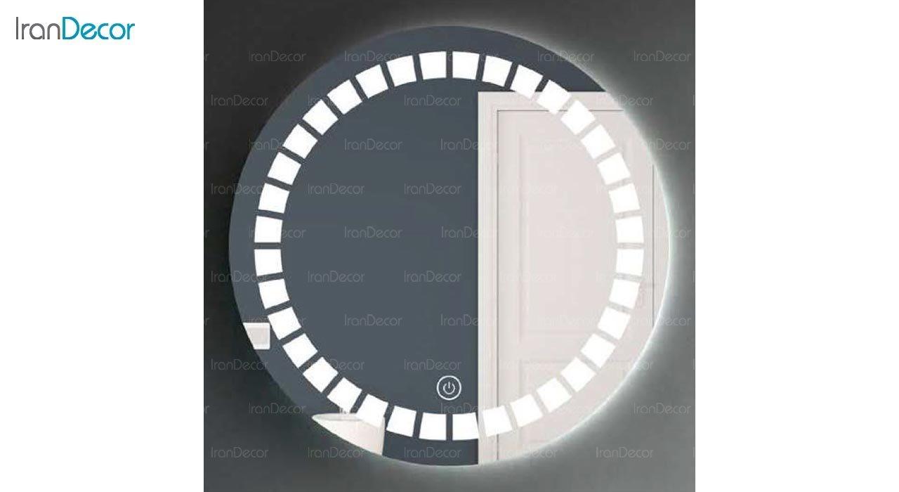 تصویر آینه گرد هوشمند بک لایت مدل F-310