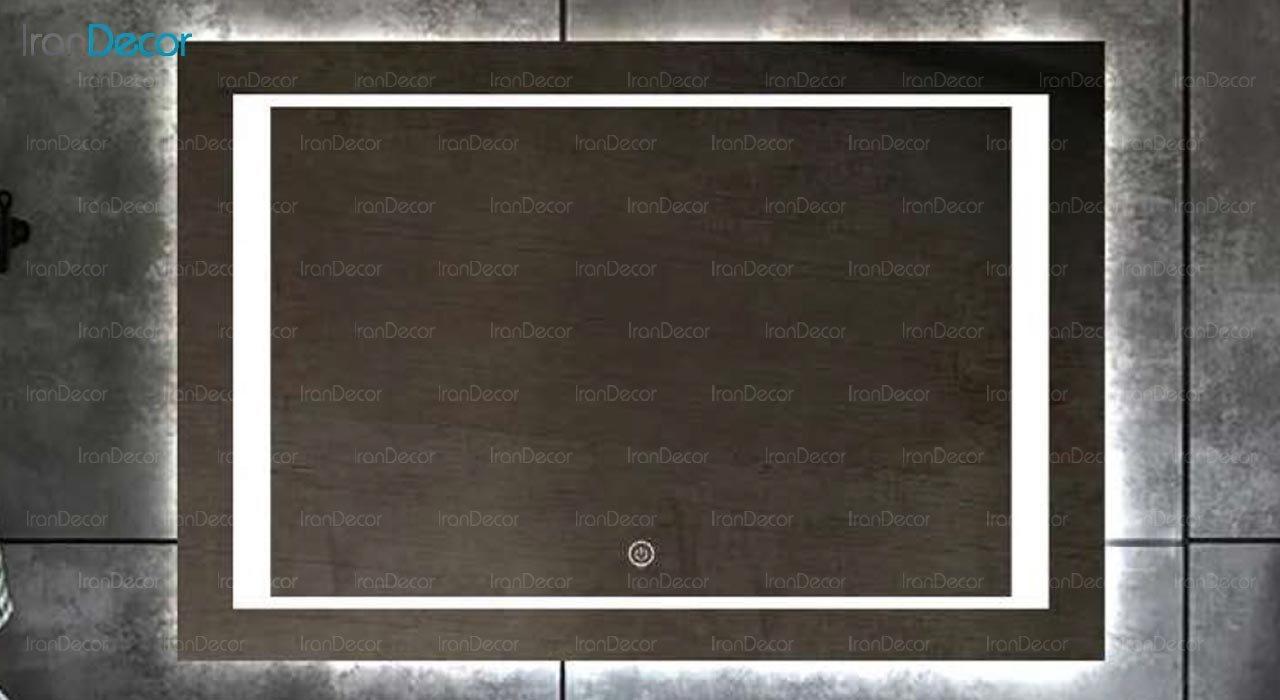تصویر آینه مستطیل هوشمند بک لایت مدل F-110