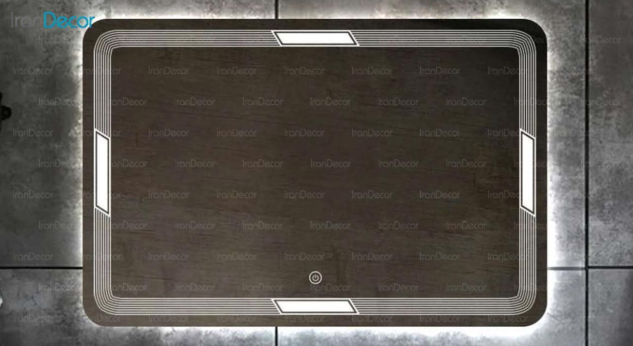 تصویر آینه مستطیل هوشمند بک لایت مدل F-112