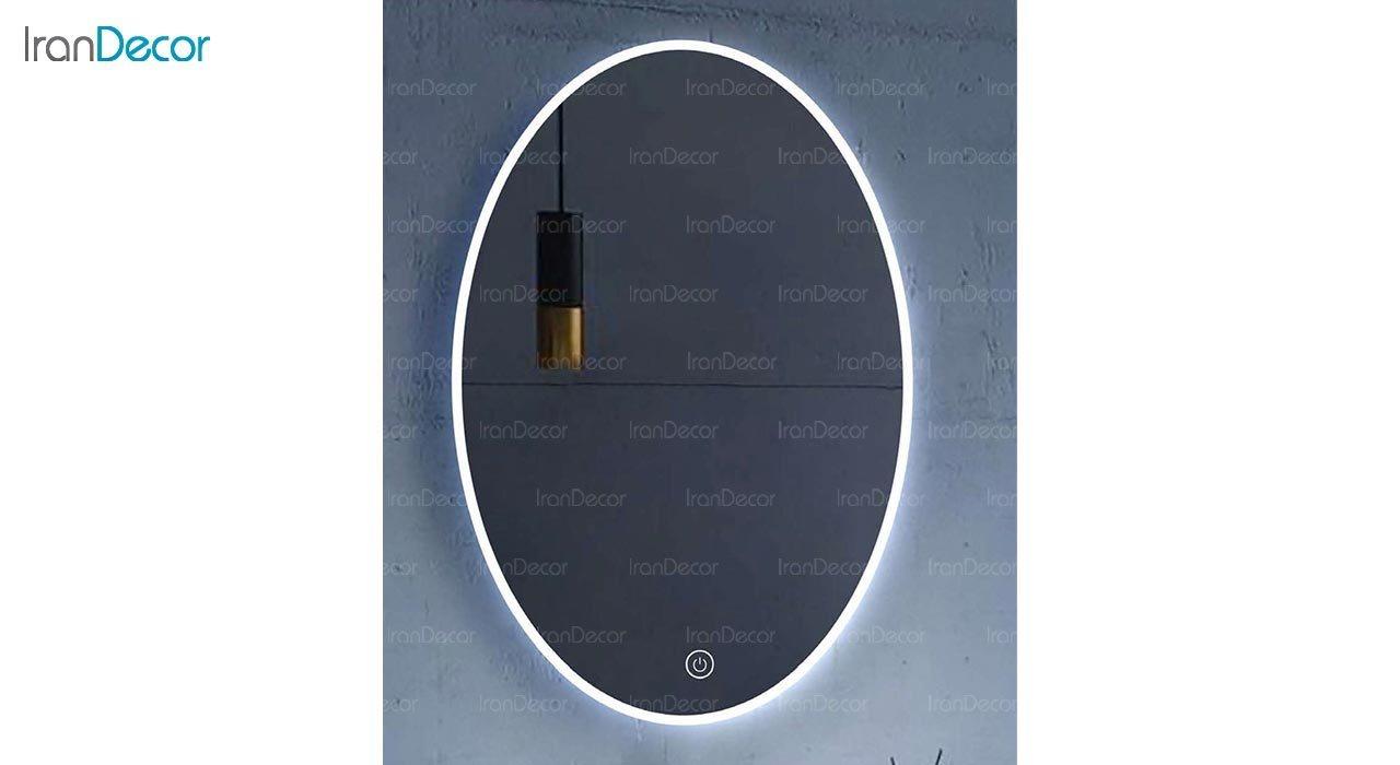 تصویر آینه بیضی هوشمند بک لایت مدل F-402