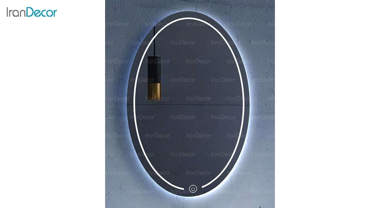 تصویر آینه بیضی هوشمند بک لایت مدل F-403