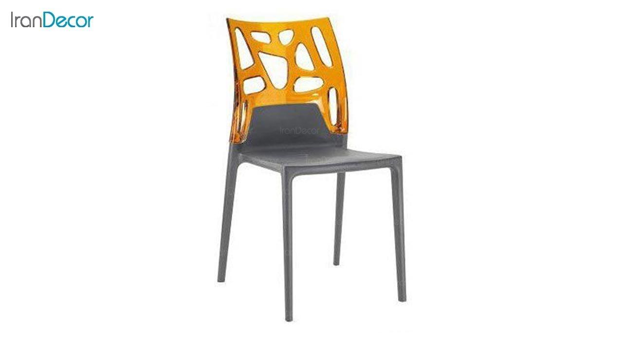 تصویر صندلی پلاستیکی مدل سورن با پشتی پلی کربنات