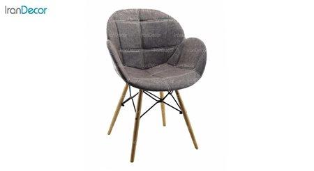 تصویر صندلی پایه ایفلی چوبی بنیزان مدل صدف کد S500P