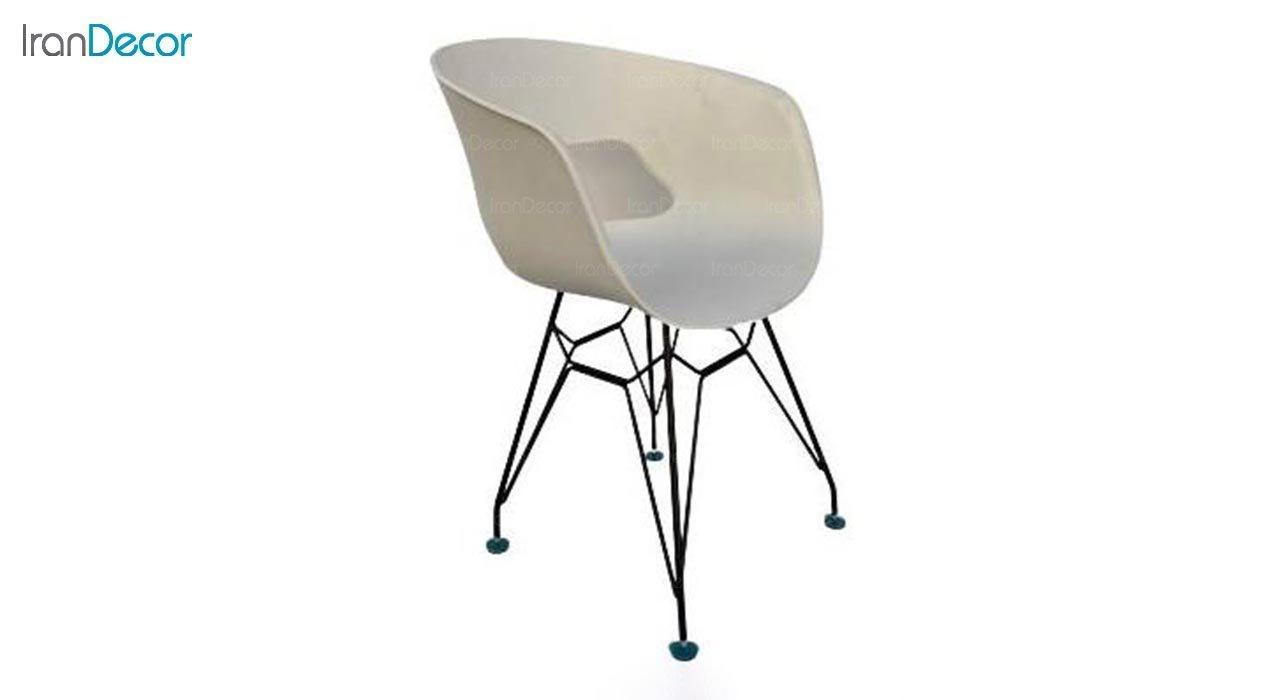 تصویر صندلی دسته دار با پایه اسپایدر مدل گلوری