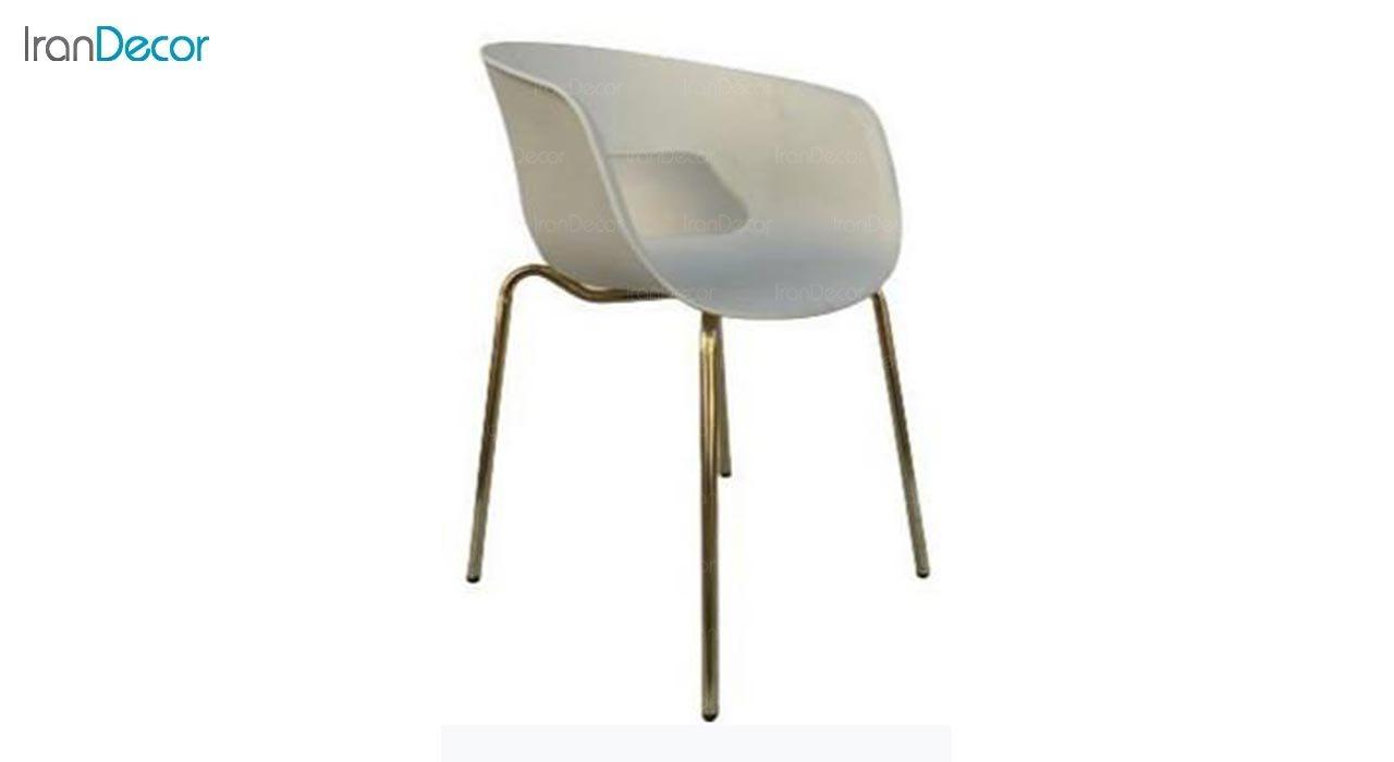 تصویر صندلی دسته دار با پایه لوله ای مدل گلوری