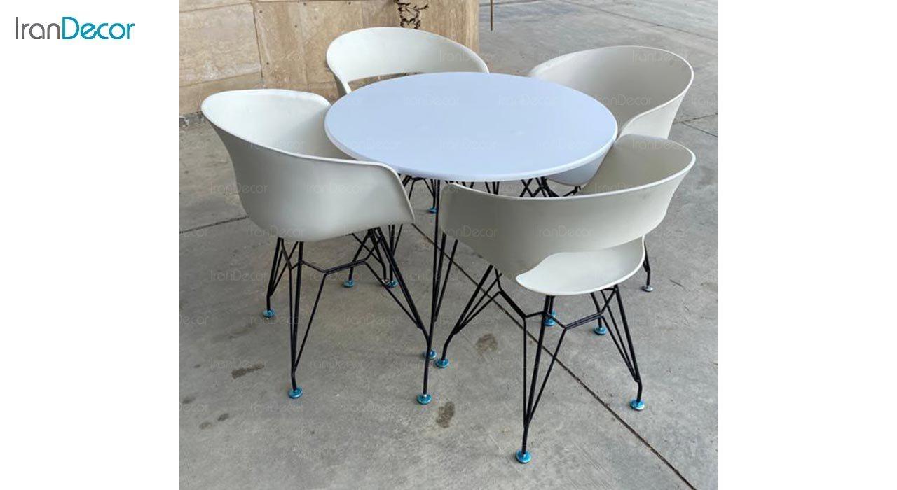 عکس صندلی دسته دار با پایه لوله ای مدل گلوری