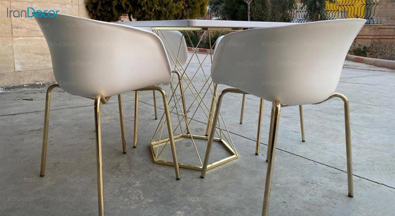 عکس میز مربع پایه فلزی مدل ونوس