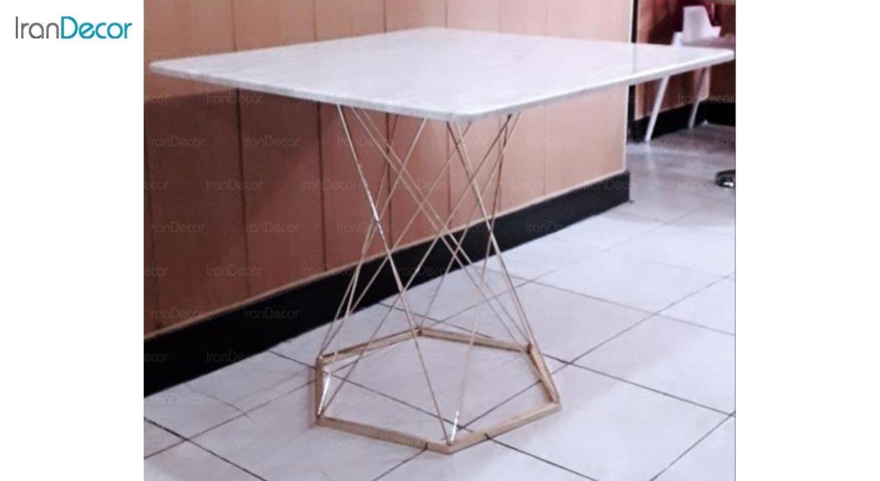 تصویر  میز مربع پایه فلزی مدل ونوس