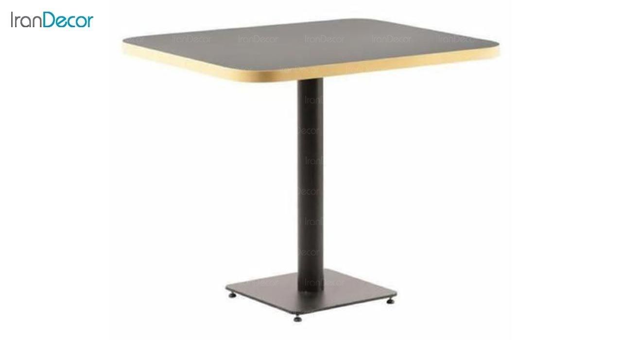 تصویر میز مربع پایه فلزی مدل تابان