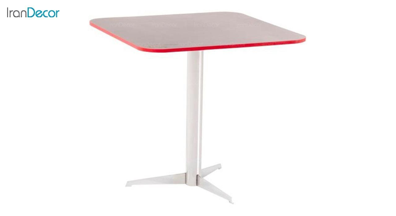 تصویر میز مربع پایه فلزی مدل ستاره
