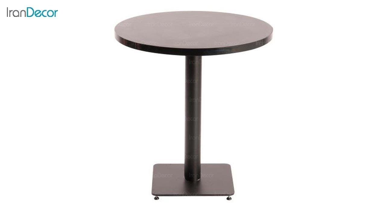 تصویر میز گرد پایه فلزی مدل S91