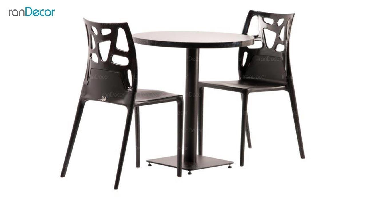 عکس میز گرد پایه فلزی مدل S91