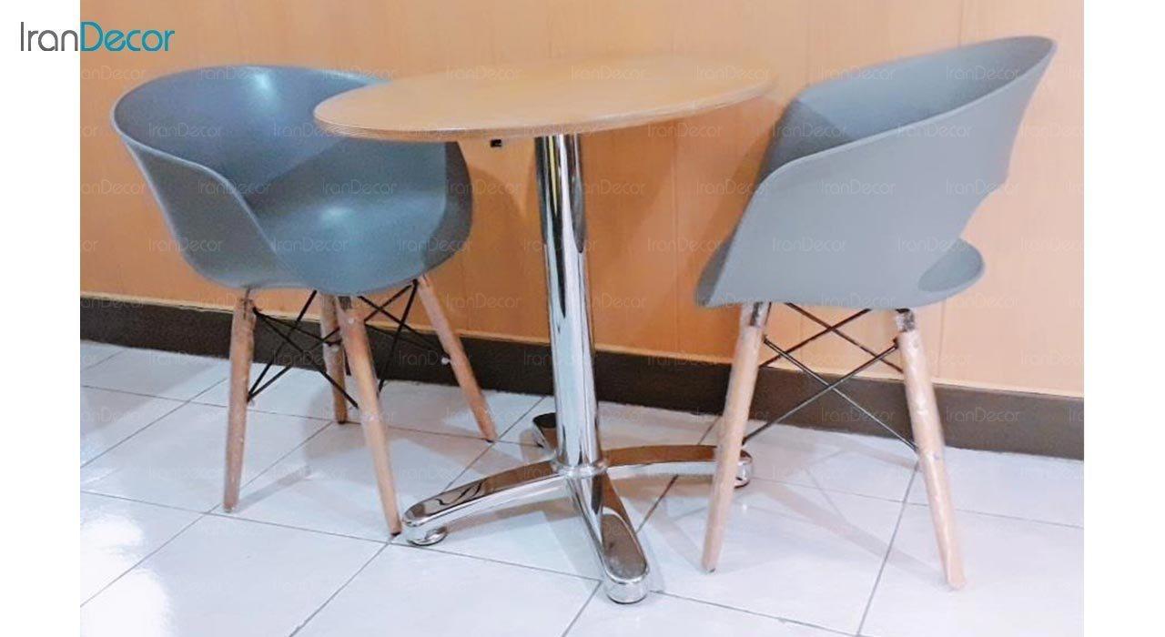عکس میز گرد پایه فلزی مدل S47