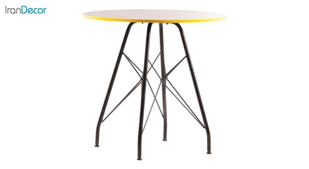تصویر میز گرد پایه ایفلی مدل تابان