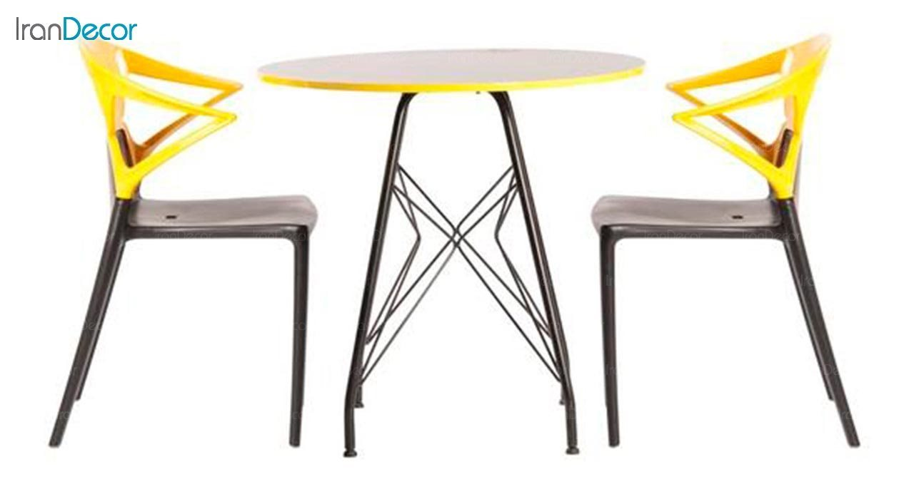 عکس میز گرد پایه ایفلی مدل تابان
