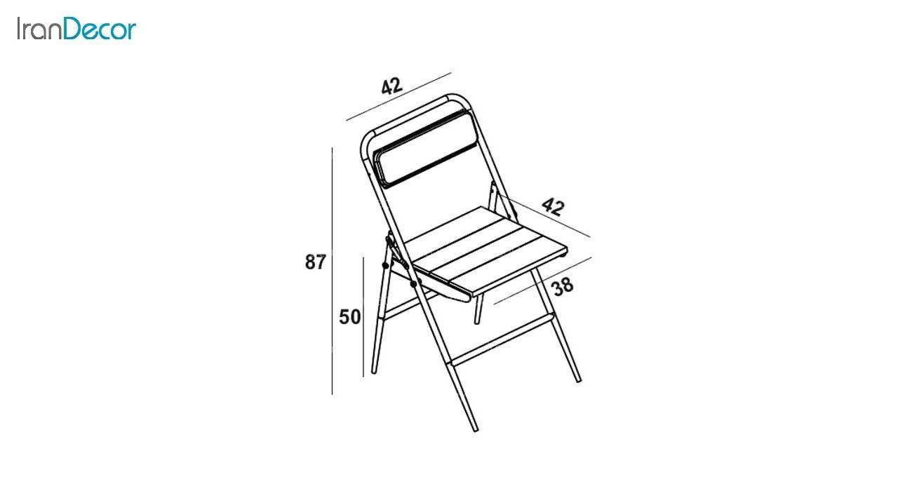 صندلی چوبی تاشو کد 610 از نهال سان