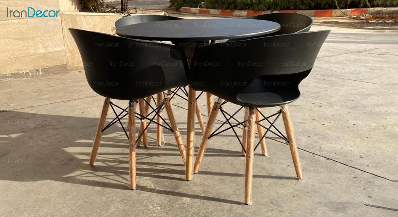 تصویر سرویس میز مدل پایه ایفلی و صندلی گلوری