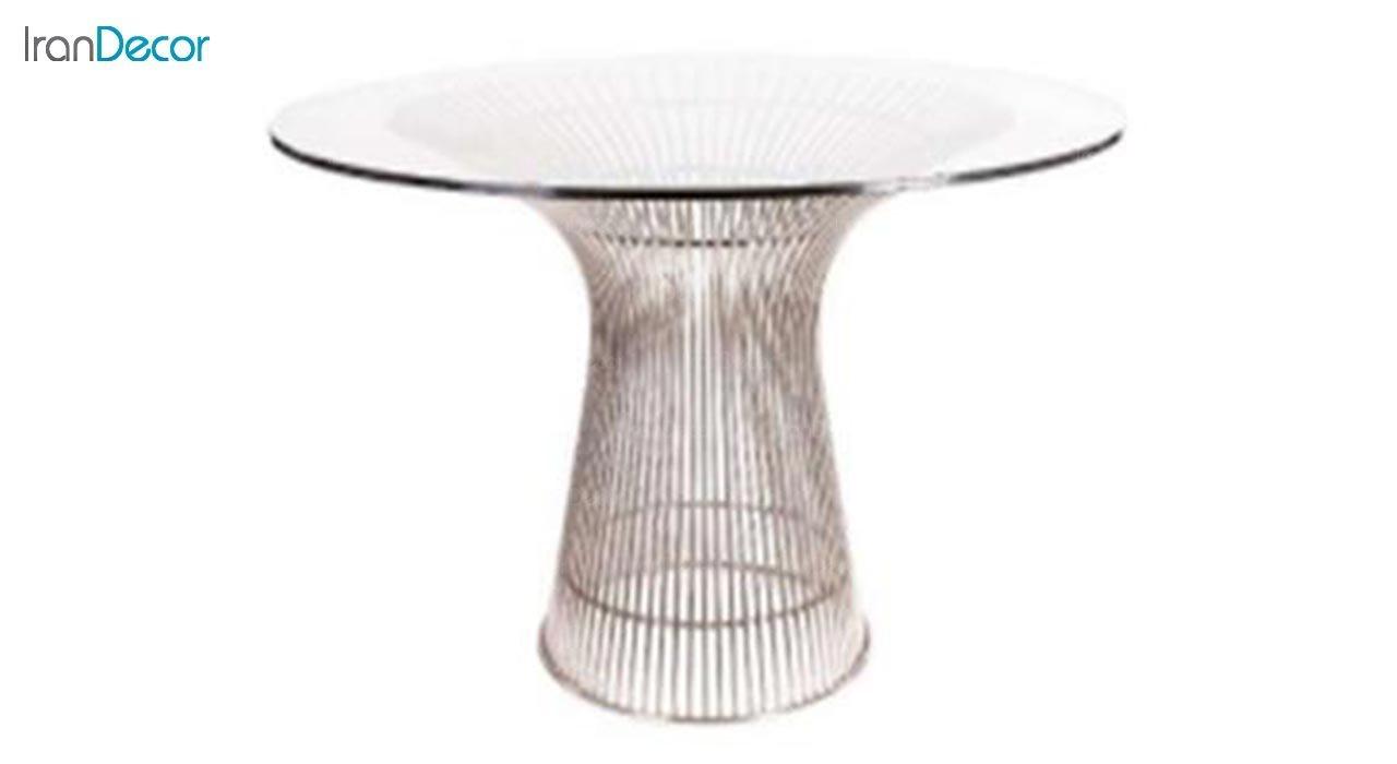 تصویر میز گرد پایه فلزی مدل شافل
