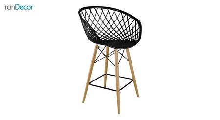 تصویر صندلی اپن پایه چوبی بنیزان مدل بامبو کد BA600