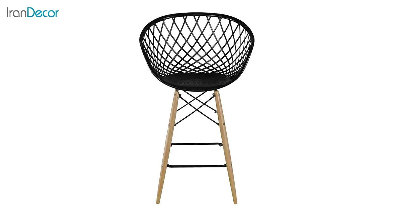 عکس صندلی اپن پایه چوبی بنیزان مدل بامبو کد BA600